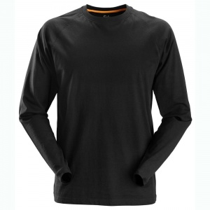 Snickers 2410 AllRoundWork Black Long Sleeved T-Shirt