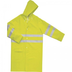 Delta Plus 605V2 Yellow Hi-Vis Waterproof Raincoat