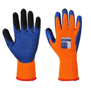Portwest A185O4 Dual Layer Latex Thermal Orange and Blue Gloves