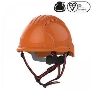 JSP EVO5 Dualswitch Orange Vented Industrial Climbing Safety Helmet