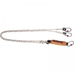 Delta Plus AN211200CCC 2m Double Rope Lanyard with Energy Absorber