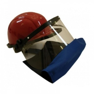 Clydesdale Arc Flash Hard Hat Visor with Apron Class 2