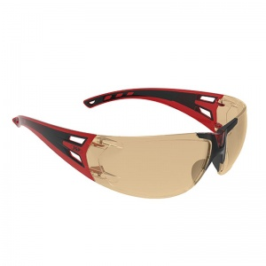 JSP ForceFlex 3 Red/Black Amber-Tinted Premiershield Glasses