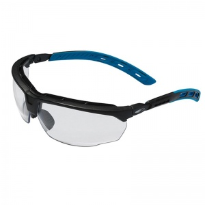 JSP Master Blue Temples Clear Lens Safety Glasses