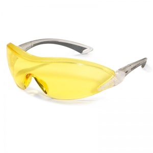 JSP Falcon Amber-Tinted Anti-Scratch/Fog Safety Glasses