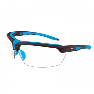 JSP Lyss Blue/Black Frame Clear Lens Safety Glasses