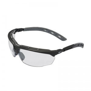 JSP Master Grey Frame Clear Lens Safety Glasses