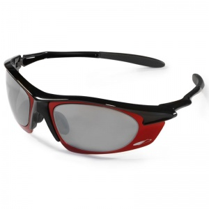 JSP Meteor Red Frame Silver Mirror Sport Glasses