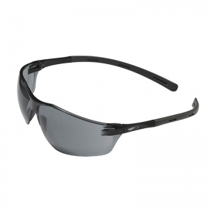 JSP Rigi Black Slimline Smoke Lens Safety Glasses
