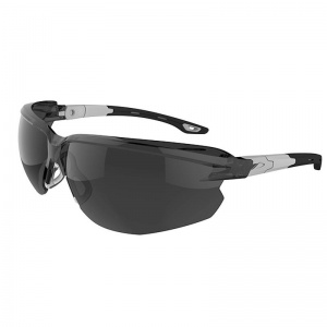 JSP Seez Black-Grey Smoke Tinted Safety Glasses