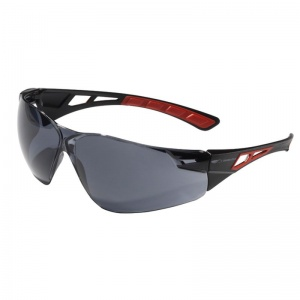 JSP Shelter Red Smoke Tinted Wraparound Safety Glasses