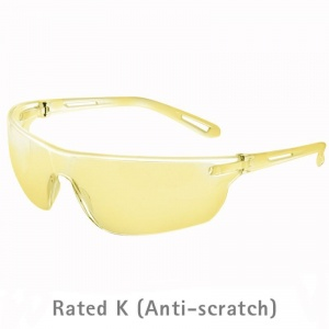 JSP Stealth 16G Amber-Tinted Anti-Scratch Safety Glasses