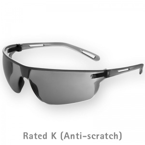 JSP Stealth 16G  Smoke-Tinted Anti-Scratch Safety Glasses