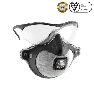 JSP FFP2 Filterspec Mask and Goggles with Odour Valve