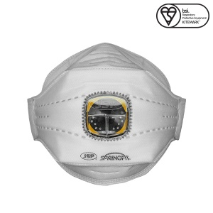 JSP FFP2 Springfit Disposable Mask with Typhoon Valve (Box of 10)