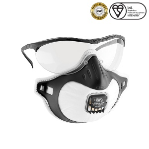 JSP FFP3 Filterspec Goggles and Respiratory Mask with Valve