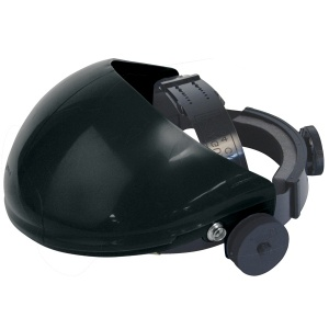 JSP Invincible Face Shield Black Brow Guard and Harness