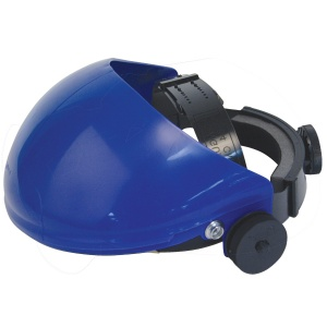 JSP Invincible Face Shield Blue Brow Guard and Harness