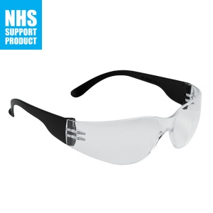 JSP Junior Stealth 7000 Safety Glasses with Clear Hard Coated Lens