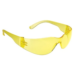 JSP Stealth 7000 Safety Glasses with Amber Anti-Scratch Lens