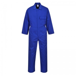 Portwest 2802 Blue Standard Coveralls with Chest Pocket