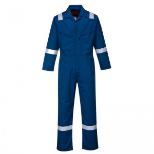 Portwest AF50 Araflame Blue Flame Resistant Winter Coveralls