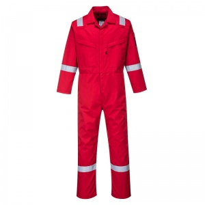 Portwest AF50 Araflame Red Flame Resistant Winter Coveralls