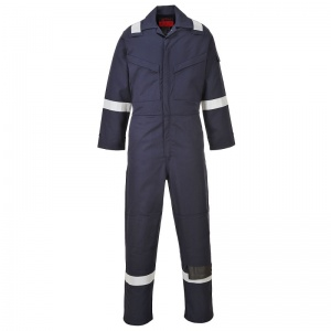 Portwest AF53 Araflame Navy Flame-Resistant Coveralls with Knee Pad Pockets