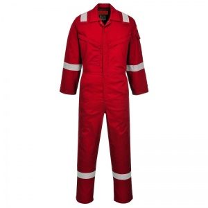 Portwest AF73 Araflame Red Flame-Resistant Coveralls