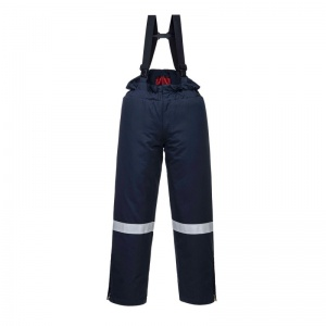 Portwest AF83 Araflame Navy Insulated Flame-Resistant Salopettes