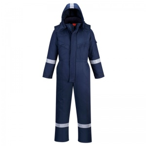 Portwest AF84 Araflame Navy Flame-Resistant Insulated Boiler Suit