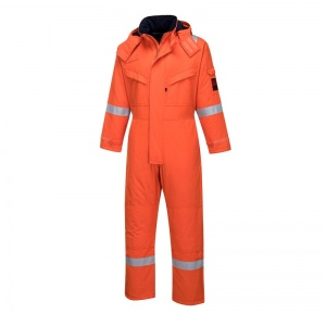 Portwest AF84 Araflame Orange Flame-Resistant Insulated Boiler Suit
