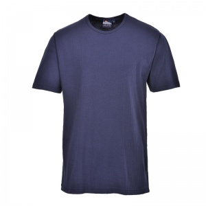 Portwest B120 Navy Thermal Short Sleeve T-Shirt