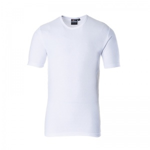 Portwest B120 White Thermal Short Sleeve T-Shirt