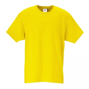 Portwest B195 Yellow Cotton Work T-Shirt