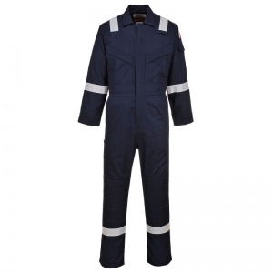 Portwest FR28 Bizflame Navy Anti-Static Lightweight Work Coveralls