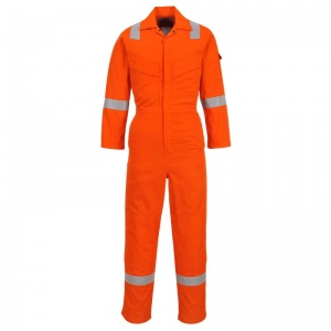 Portwest FR28 Bizflame Orange Anti-Static Lightweight Work Coveralls