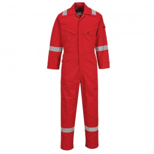 Portwest FR28 Bizflame Red Anti-Static Lightweight Work Coveralls