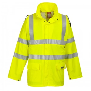 Portwest FR41 Yellow Sealtex Flame High-Vis Coat