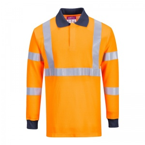 Portwest FR76 Flame Resistant High-Vis Polo Shirt