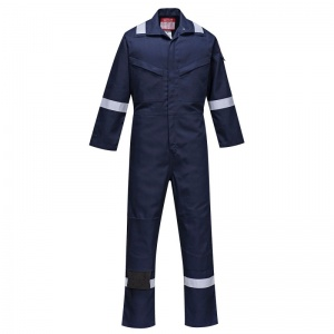 Portwest FR93 Navy Bizflame Ultra PPE Coveralls