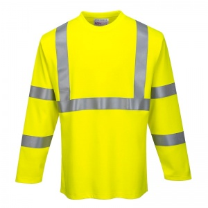 Portwest FR96 High-Vis Flame-Resistant Long-Sleeve Shirt