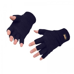 Portwest GL14 Fingerless Navy Knitted Insulatex Gloves