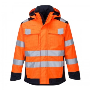 Portwest MV70 Orange Modaflame Rain PPE Arc Jacket