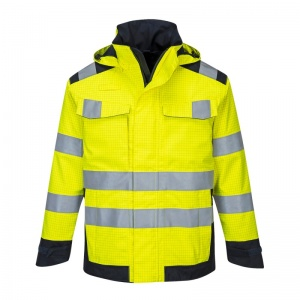 Portwest MV70 Yellow Modaflame Rain PPE Arc Jacket