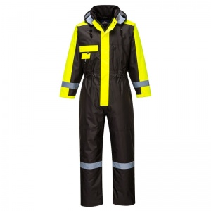 Portwest S585 Black Winter Coveralls