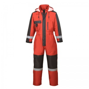 Portwest S585 Red Winter Coveralls