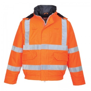 Portwest S773 Orange Bizflame Rain High-Vis FR Bomber Jacket
