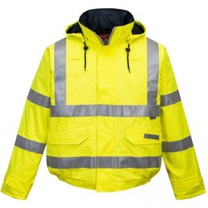 Portwest S773 Yellow Bizflame Rain High-Vis FR Bomber Jacket