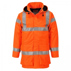 Portwest S774 Orange Bizflame Rain PPE High-Vis Lightweight Jacket